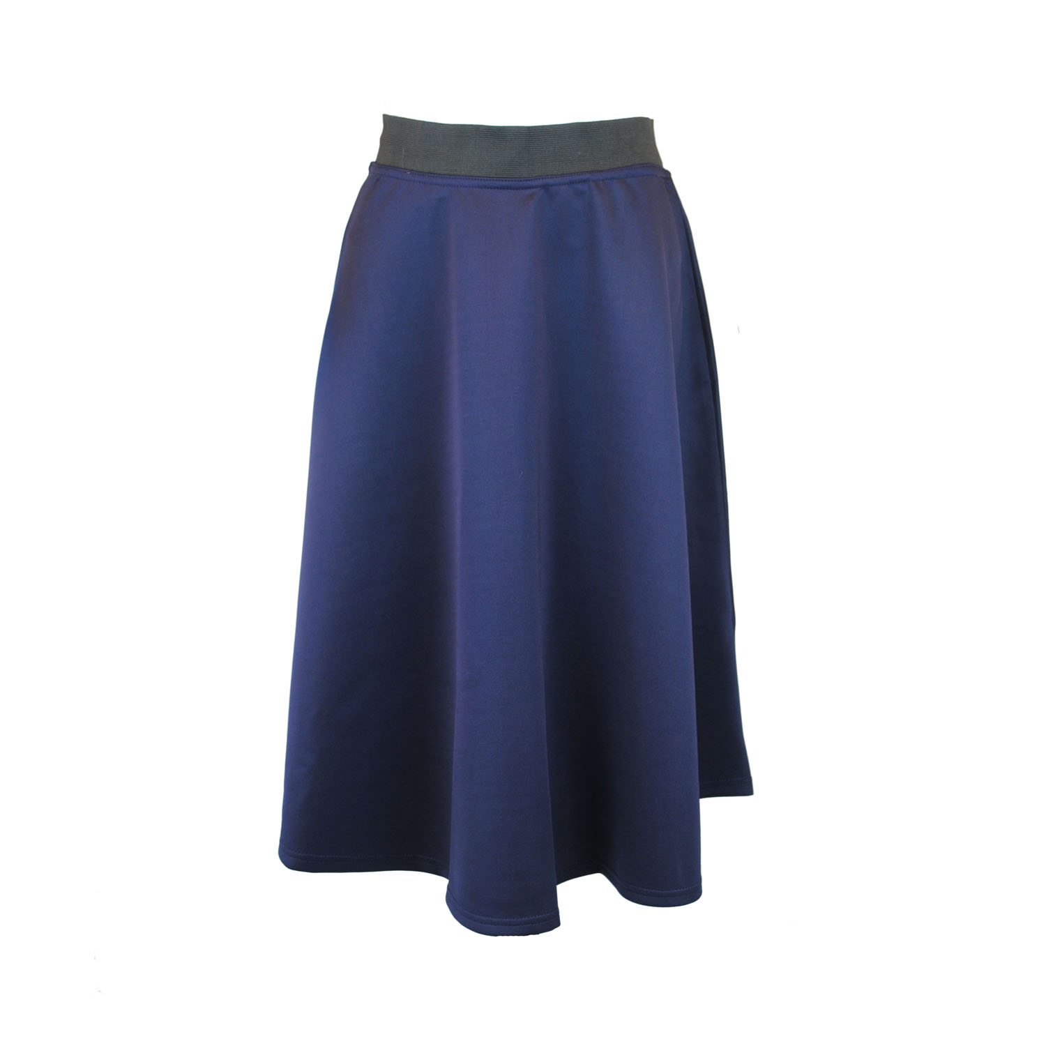womens calf length midi skirt in prom style cut with