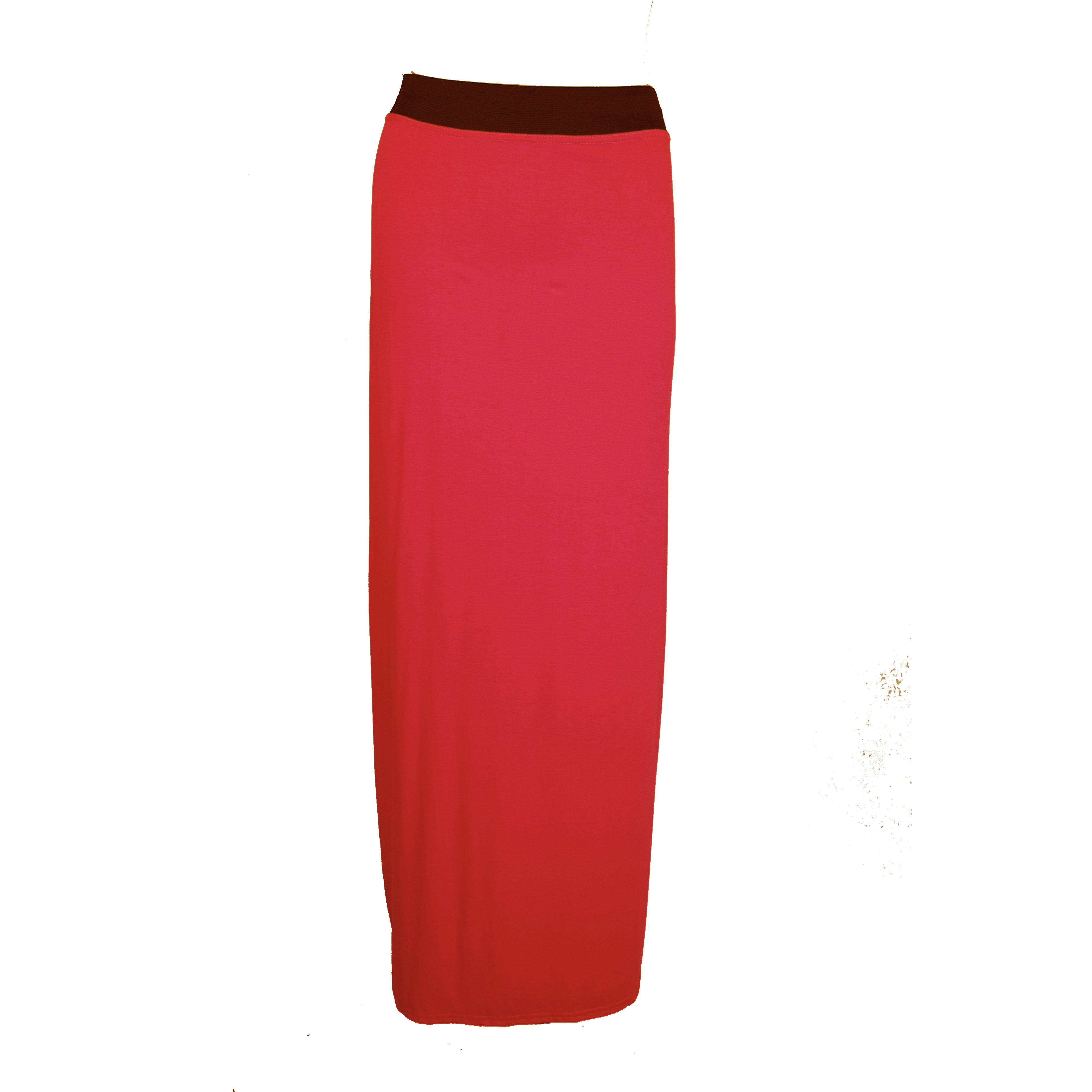 stretchy bodycon maxi skirt with elasticated waist