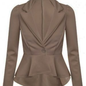 bd642586c22 Ladies bodycon fitted blazer with single button and peplum shape – upto  size 18